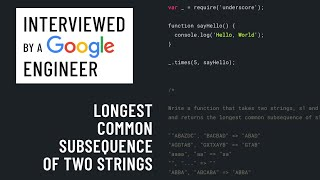 JavaScript interview with a Google engineer
