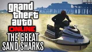 GTA V Online FUNNY MOMENTS | SEA SHARKS (JET SKIS ON LAND) w/ The Nobeds