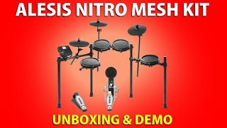 ALESIS Nitro Mesh Kit Electronic DRUMS • UNBOXING & DEMO