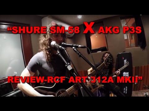 Shure SM 58 vs AKG P3S e Review da RCF ART 312A MKII