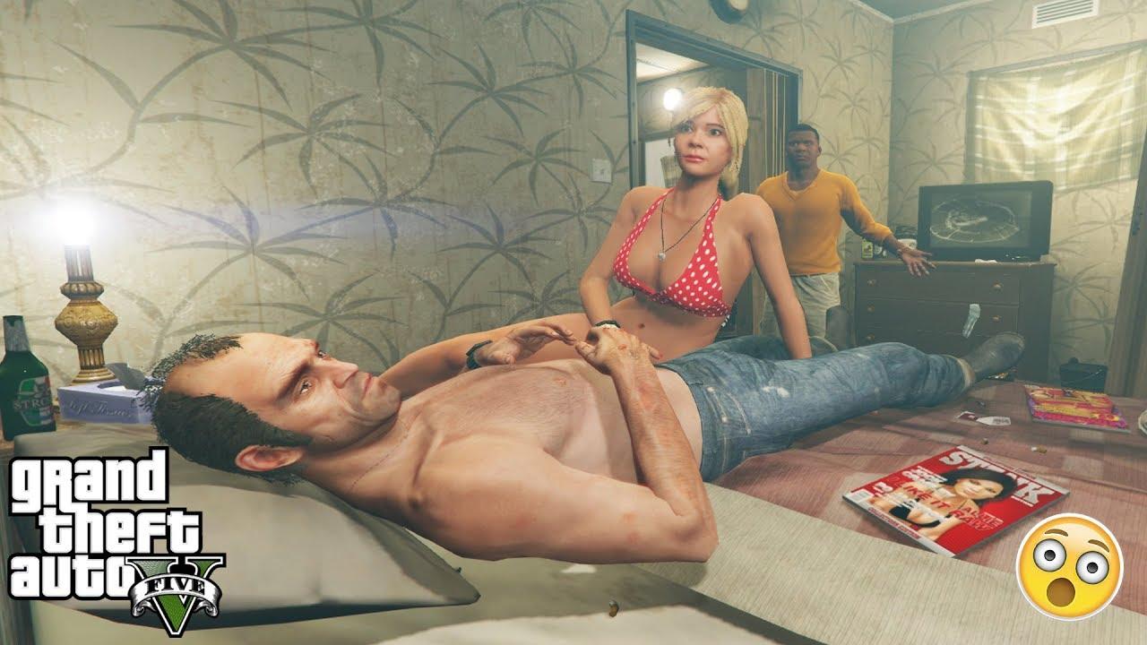 GTA 5 - Franklin CAUGHT TREVOR AND TRACEY (secret encounter)