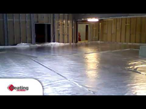 Liquid screed and underfloor heating installations, Ecobuild