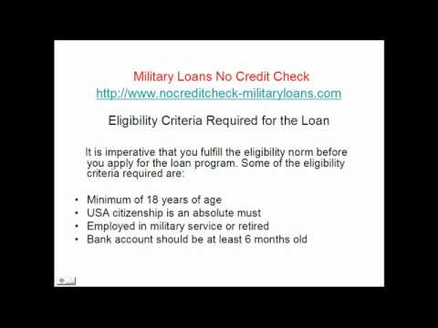 How To Apply Military Loans No Credit Check Youtube