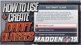 Informationen Zum Herunterladen / Erstellen Von Benutzerdefinierten Entwurf Klassen In Madden 19 | Madden 19 Franchise-Modus