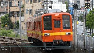 東武鉄道8000系8577F 普通「亀戸」行き 東武亀戸線東あずま駅到着