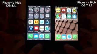 iPhone 4s 16gb - speed test IOS 8.1.1 vs IOS 7.1.2(iPhone 4s 16gb - speed test IOS 8.1.1 vs IOS 7.1.2., 2014-11-17T23:07:50.000Z)