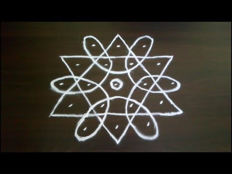 Simple and Small Rangoli Designs | Small Kolam Designs | Daily Rangoli | Small Muggulu | 5 to 3 Dots