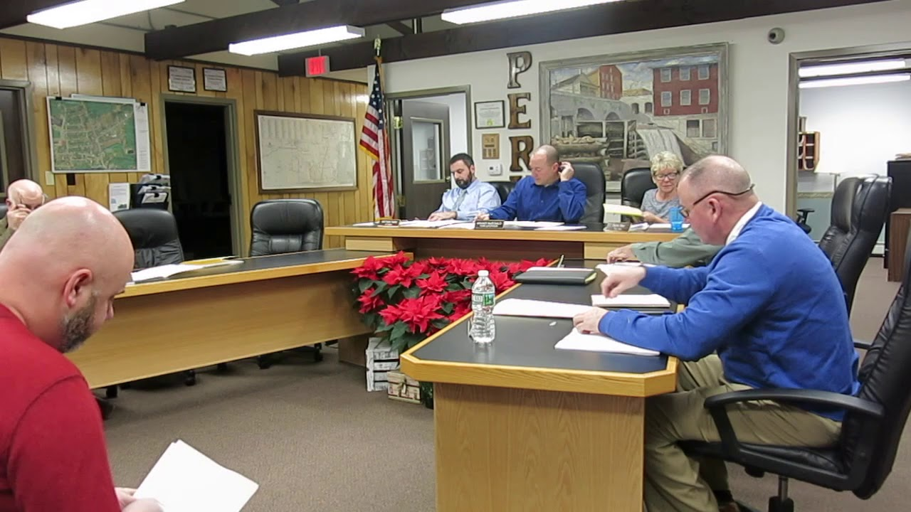 Peru Town Board Meeting  1-14-19