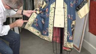 Embroidery Review Kimono Chinese(Colorful silk Chinese kimono style robe with floral embroidery. Colored in a brilliant blue with a jacquard design, this garment features various hand techniques ..., 2015-09-30T14:55:51.000Z)