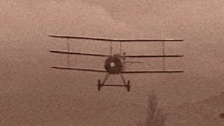 A Sopwith Triplane performs a touch and go in this short clip, remi...