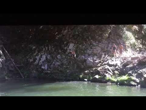 Garden of eden cliff jump Santa Cruz sends