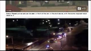 A police sniper shot  Supect attacking Dallas Police Department