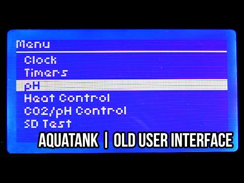 [Project] AquaTank   Old UI Demo, 128x64 LCD and Buttons