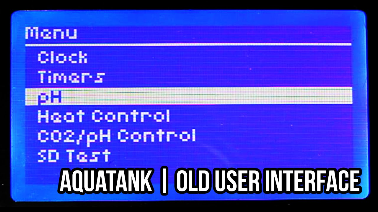 [Project] AquaTank | Old UI Demo, 128x64 LCD and Buttons