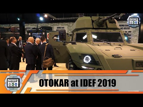 IDEF 2019 OTOKAR stand full range of new tracked and wheeled armored combat vehicles