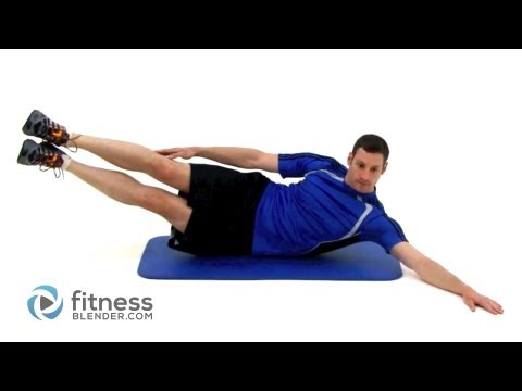 Pilates Oblique Crunch With Leg Raise (Lv 1)