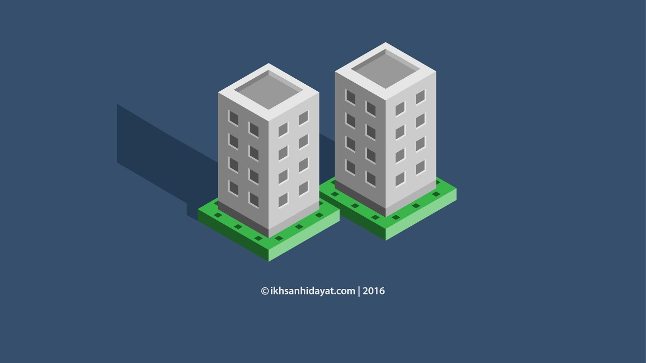 Create isometric 3d building illustration adobe for 3d building creator