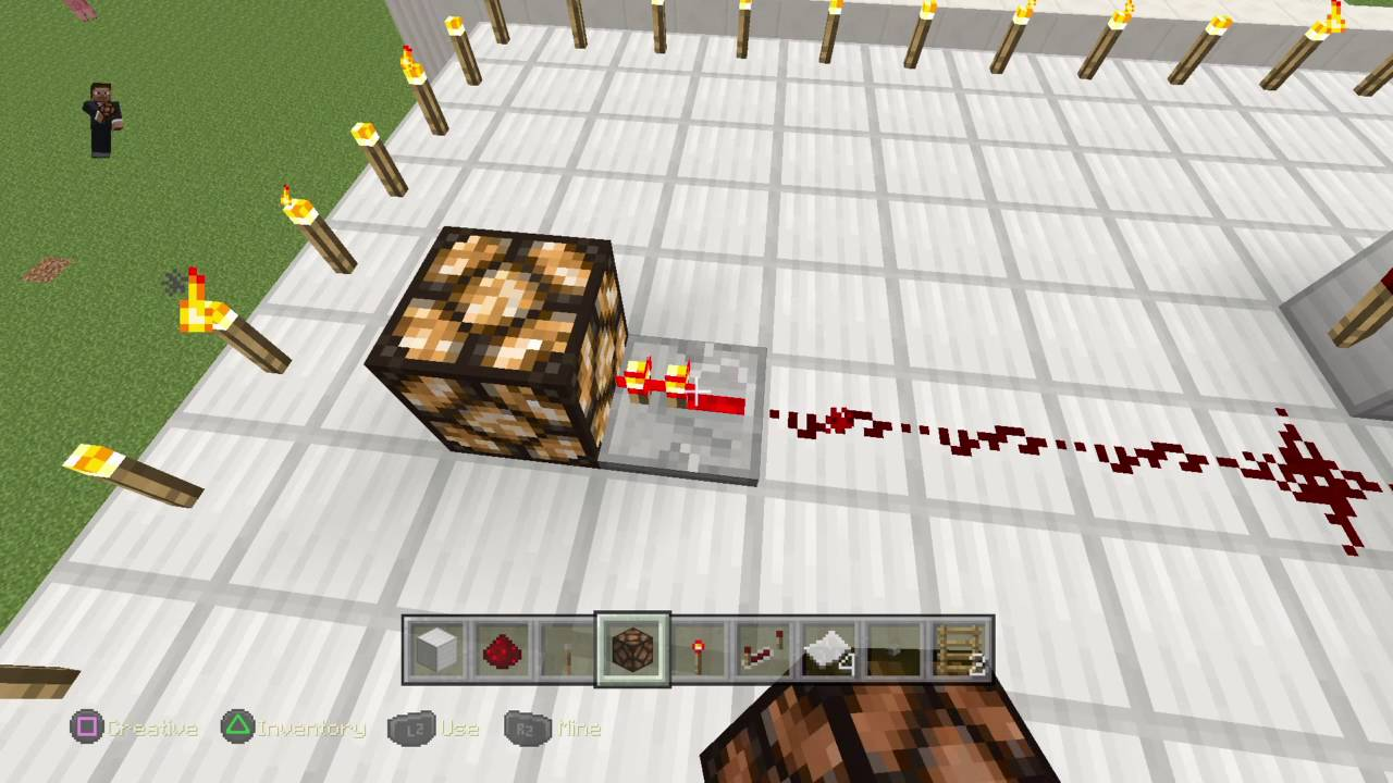 How to make a redstone lamp flickerminecraft - YouTube