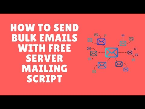 how to send bulk emails with free server mailing script by