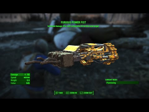 fallout 4 how to use fists