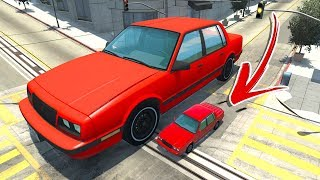 BUILDING SIZED CAR CRUSHES EVERYTHING! - BeamNG Drive Mods