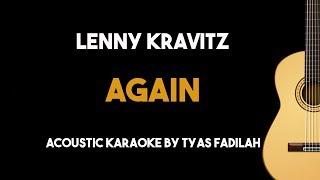Lenny Kravitz - Again (Acoustic Guitar Karaoke Version)