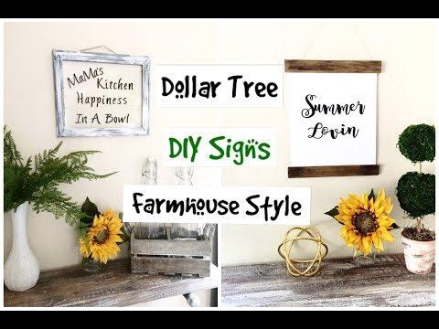 Dollar Tree DIY Farmhouse Wall Art