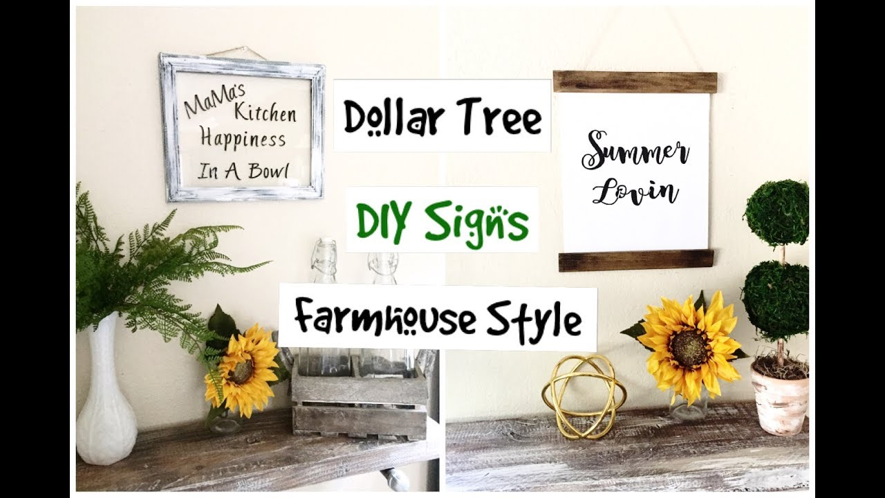 Dollar Tree DIY Farmhouse Wall Art - YouTube