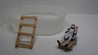 How To Make A Toy Pool And Lounge Chair (hd)