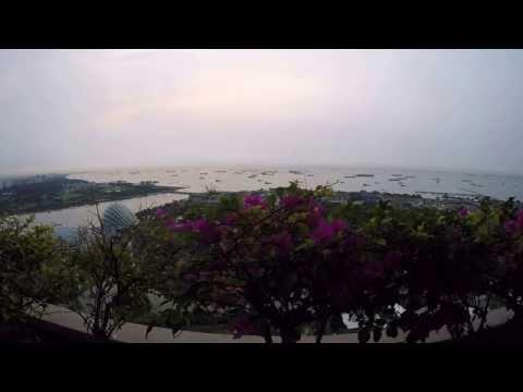 Sunrise over Singapore Strait