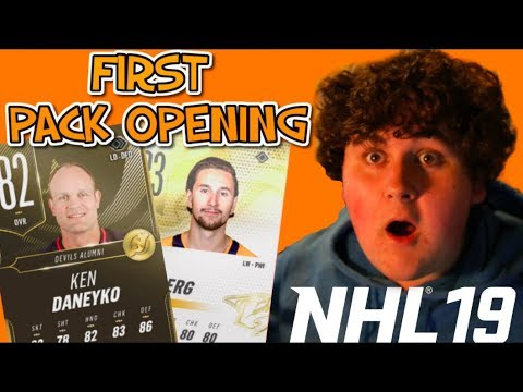 MY FIRST NHL 19 PACK OPENING!!