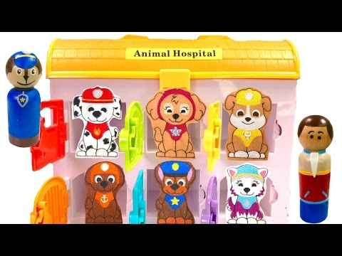 Thumbnail: Best Learning Colors Video for Children - Paw Patrol Animal Hospital & Mr Play Doh Dentist