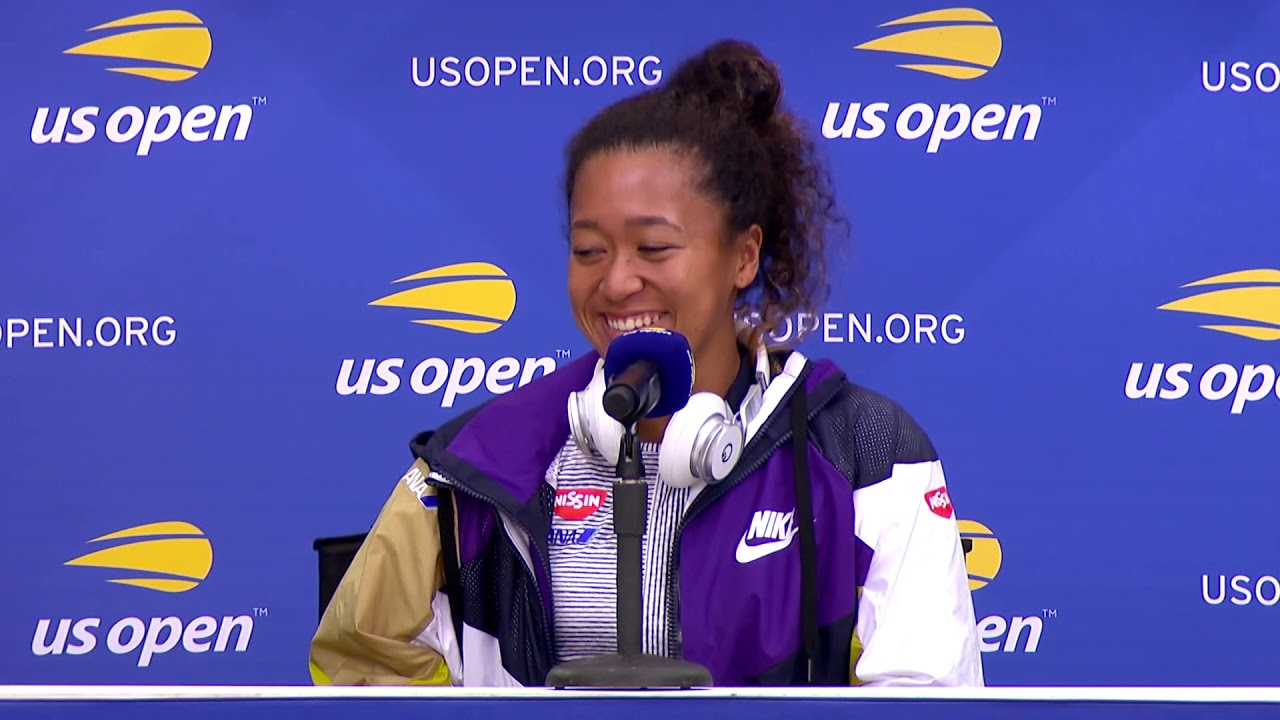 Naomi Osaka at US Open Media Day
