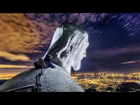 Залезли на  Статую Христа в Рио де жанейро Бразилия Руфинг