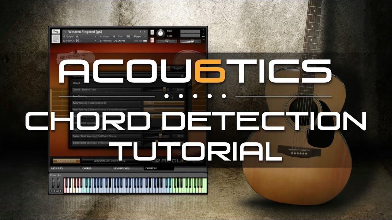 Acou6tics Tutorial Chord Detection Youtube