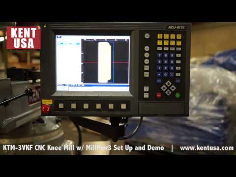 KTM 3VKF CNC Knee Mill With MillPwr3 Set Up And Demo