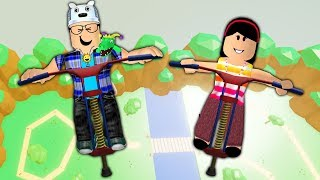ROBLOX: OLD MAN AND AUNT GRACE TRY TO JUMP HIGHER THAN EVERYONE IN THE PULA-PULA!! (POGO SIMULATOR)