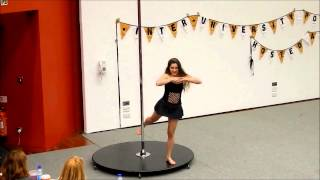 Anastasia James ~ Inter-Uni Pole Competition 2014 ~ 2nd Place Beginner