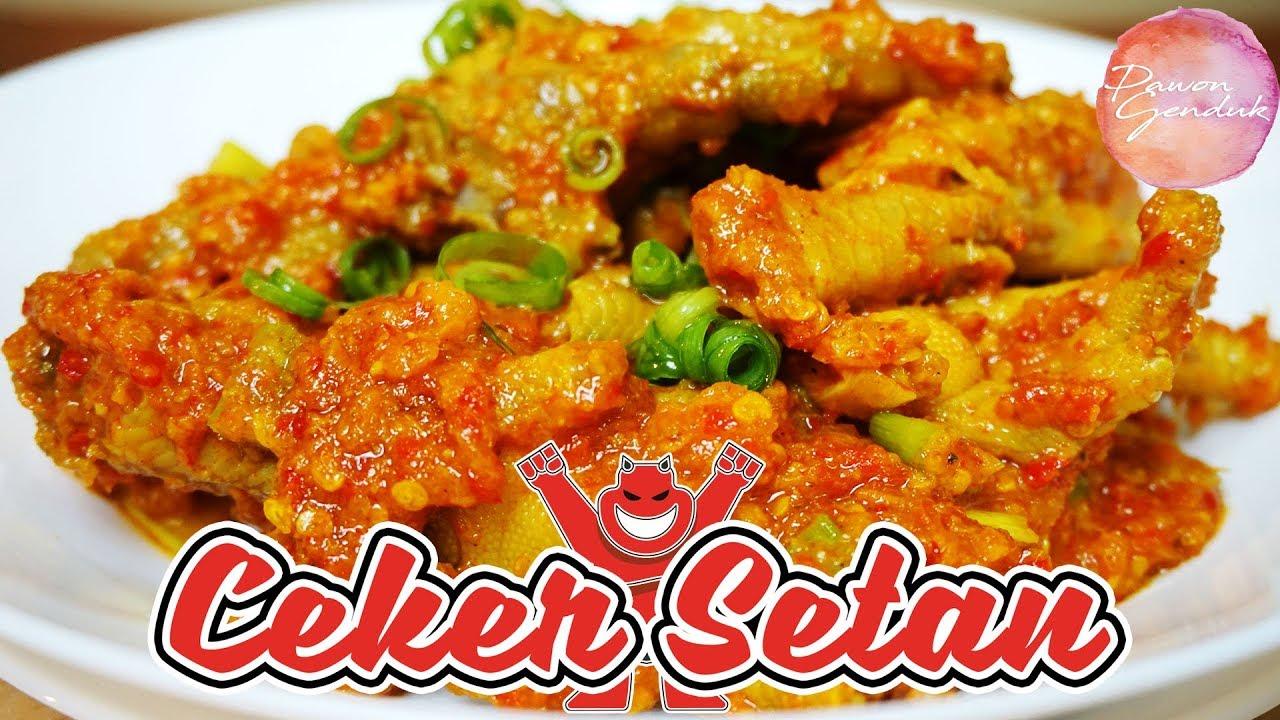 Resep Ceker Ayam Masak Pedas Makanan Pedas Makanan Dan Minuman Fotografi Makanan