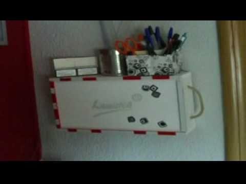 Organizador para escritorio muy facil bonito y barato - Organizador escritorio ...