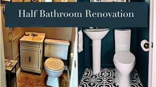 Half Bathroom Renovation Reveal