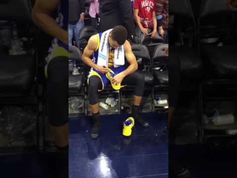 Fan Tries To Steal Signed Steph Curry Shoes From Kid