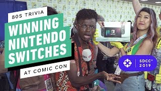 80s Trivia! Winning Nintendo Switches at Comic Con 2019