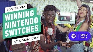 80s Trivia! Winning Nintendo Switches at Comic Con 2019