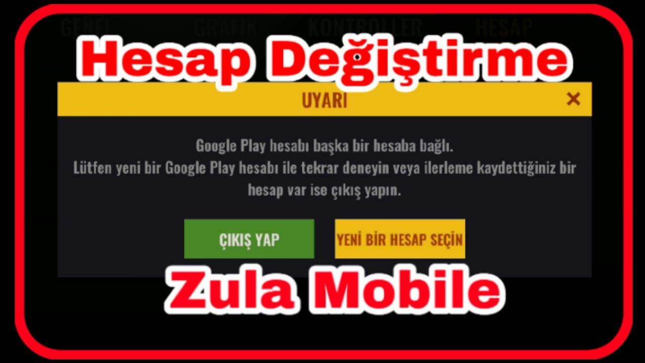 Zula mobile hesap değiştirme Hesaplar arasında geçiş yapma