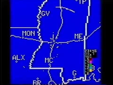 Jackson, MS Radar On The Weather Channel 11/3/90