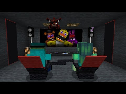 Minecraft SCARY CINEMA ROOM FOR OUR ZOMBIE HOUSE / BUILDING A CINEMA ROOM !! Minecraft Mods