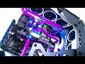AMD Custom Water Cooled Gaming PC Build - Time Lapse 2019 - Antec Torque