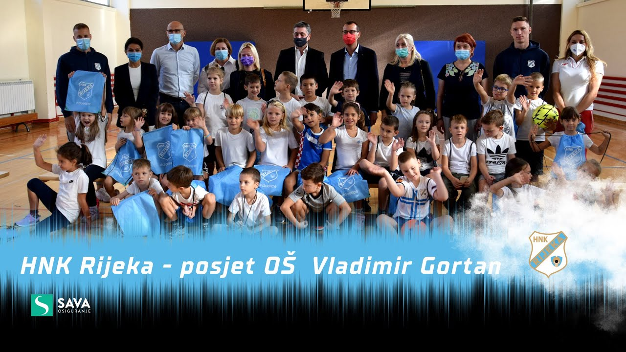 HNK Rijeka posjetio OŠ Vladimir Gortan (2021./2022.)