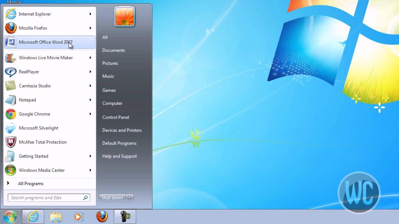 Windows 7 Pinning Programs In Start Menu And Task Bar